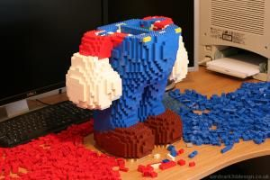 wanna make a big big doll with LEGOs!