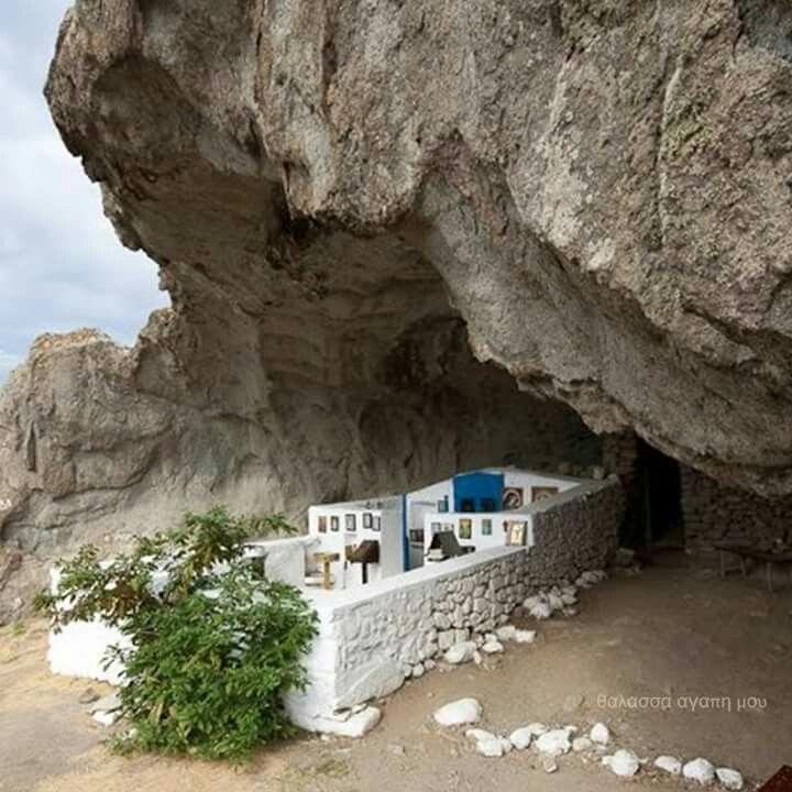 Panagia Kakaviotissa..the only church in the world without a roof! Limnos island , Greece