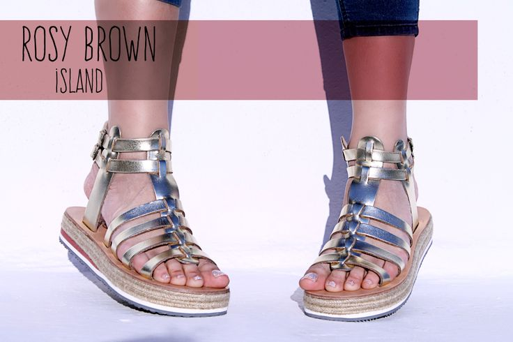 Premium quality handmade sandals, designed by Irene Sioti. #GOLD/ROSY BROWN Find them here: www.esiot.gr