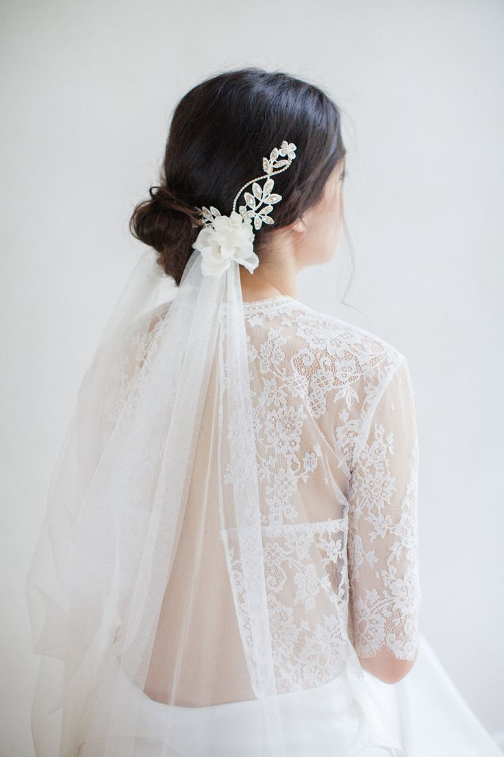 Swoon over jannie baltzer s wild nature bridal headpiece collection - Our Saara Veil Is So Special