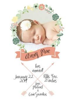 baby girl announcements ideas