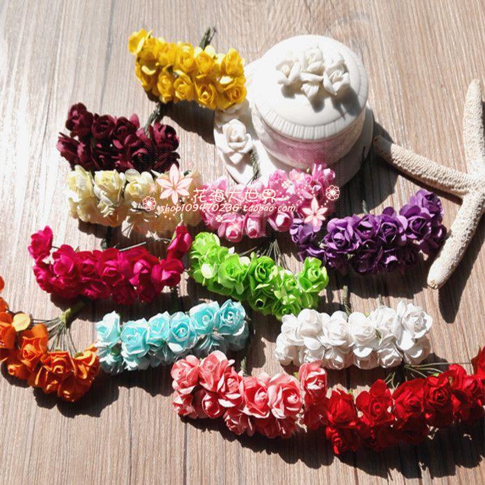 Мини маленькие бумажные цветы сливы в букете 12 цветов цена конфеты коробка аксессуары цветочные гирлянды материал DIY ручной работы декоративные цветы из бумаги-Таобао мировой станции