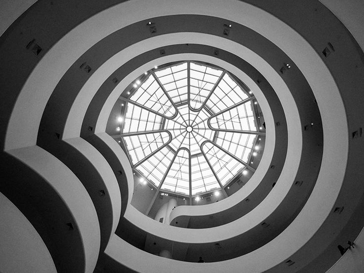 Inside the Guggenheim looking up - By Anthony A
