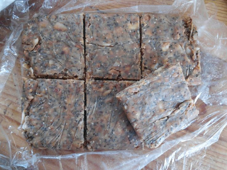 Peanut butter maple chia coconut energy bars from KetoIncognito