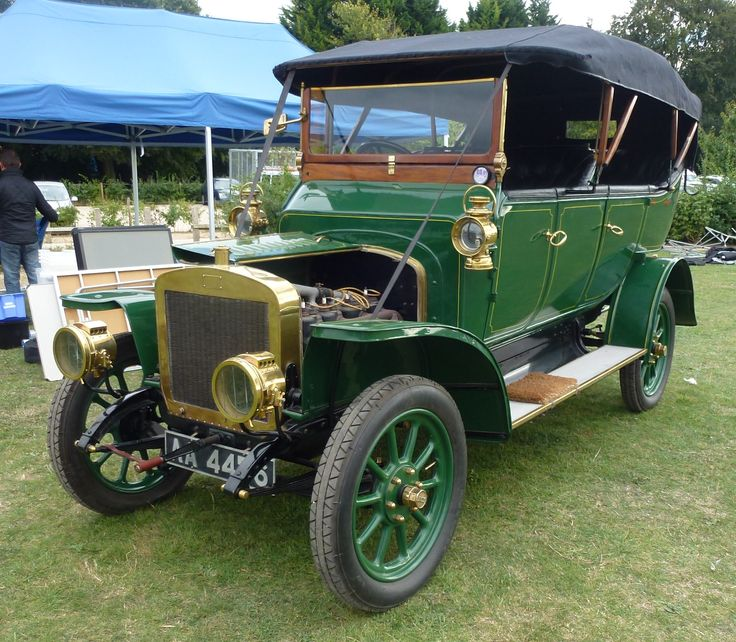 1912 Scout Motor Car, Now With Its Hood Up, On Display At