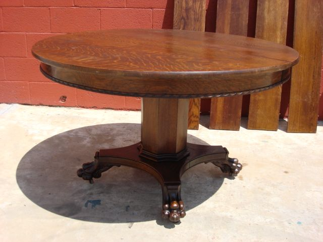 American Antique Round Dining Table Antique Furniture Drawl Leaf Table