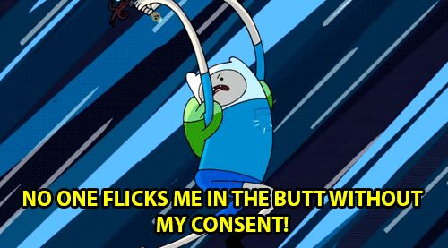 "Which ""Adventure Time"" Character Are You Well I got Finn the Human& I will say that this gif is pretty right. Lol my life is weird.. -Helena"