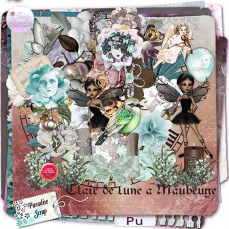 **NEW** Clair De lune a Maubeuge by JosyCréations Créations Available @ http://www.paradisescrap.com/fr/112_josy-creations