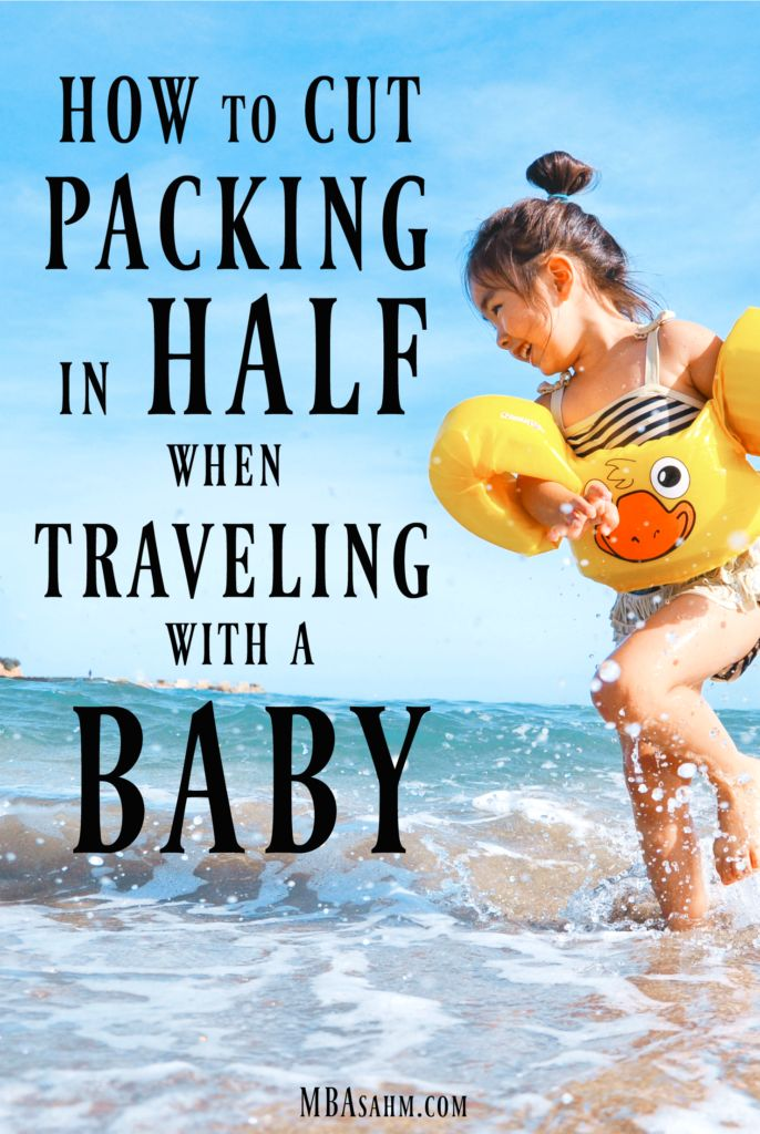 If you're looking for tips for traveling with a baby, then you need to start with the packing! If you know what you're doing, you can seriously cut back on packing for your baby.