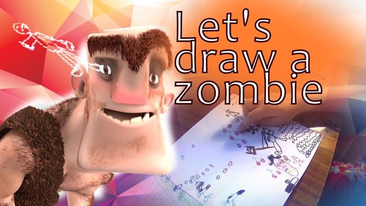 Let's draw a zombie from plants vs zombies
