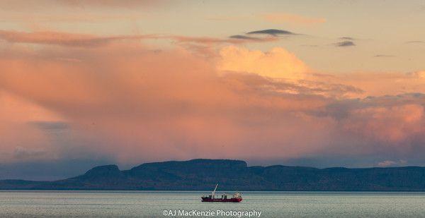 Sunset over the Giant. Thunder Bay
