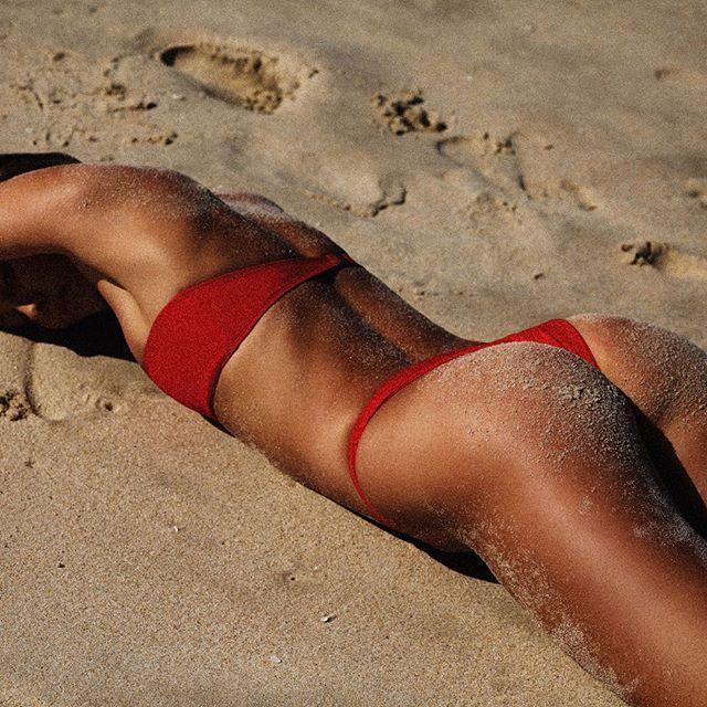 Heart and soul bikini in red