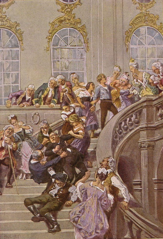 """""""Die goldene Gans"""" - Illustration zu Grimms Märchen, von Professor Paul Hey, Maler, Grafiker und Illustrator (19.10.1867 in München - 14.10.1952 Gauting)"""