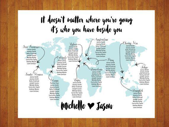 Carte du monde personnalisé sièges tableau personnalisé