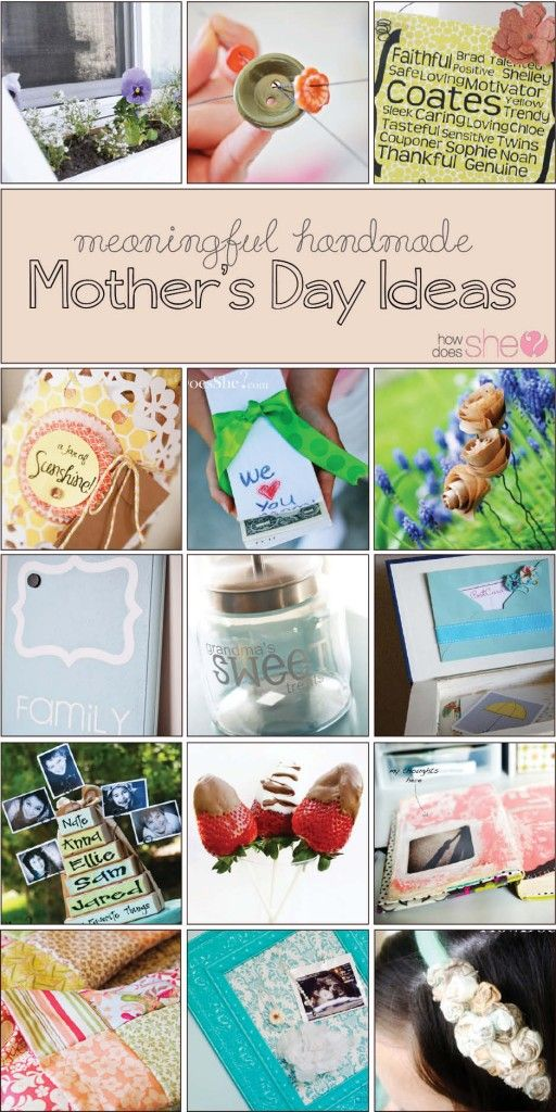Beautiful, Meaningful, Handmade Mothers Day Gift Ideas from HowDoesShe.com #mothersday #handmade #gifts