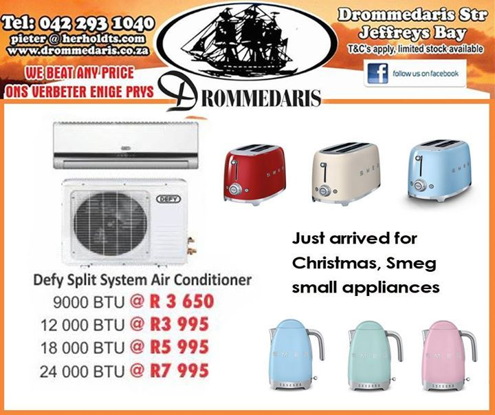 Shopping this Christmas has never been easier than at Drommedaris. We stock a wide range of major brands of all your home appliances and furniture and undertake to beat any price on all our products. Visit us and put us to the test. #shopping #lifestyle #appliances
