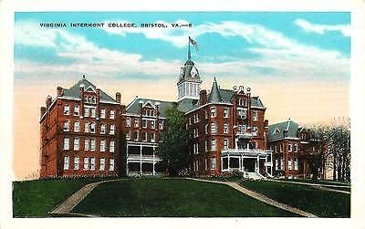 Bristol Virginia VA 1920s Virginia Intermont College Vintage Postcard 29432