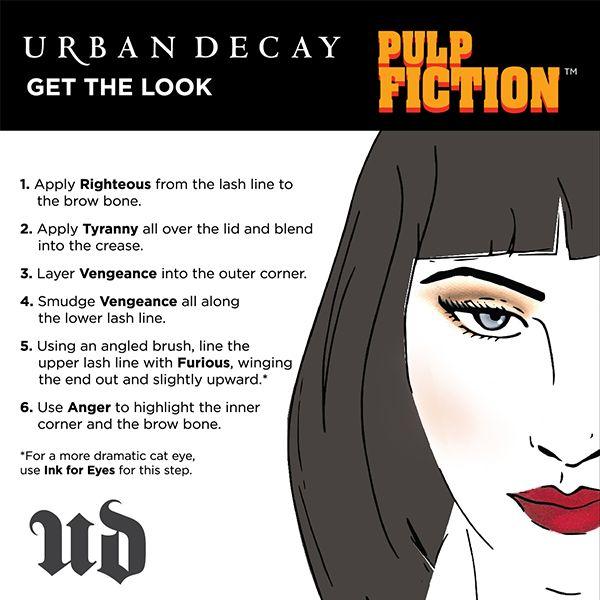 How to recreate Mrs. Mia Wallace's dark, edgy look. #Sephora #UrbanDecay #PulpFiction