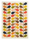 Stem Hand-Knotted Rug by Orla Kiely House | beige, lime, rust | Gilt