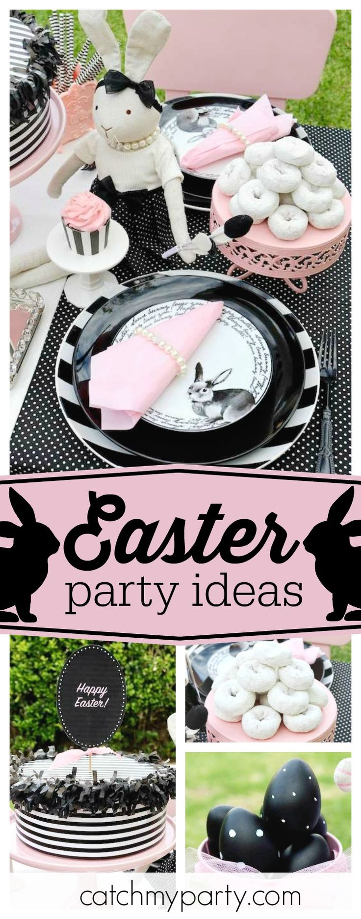 Don't miss this glam Easter party! the table settings are so cute!! See more party ideas and share yours at CatchMyParty.com