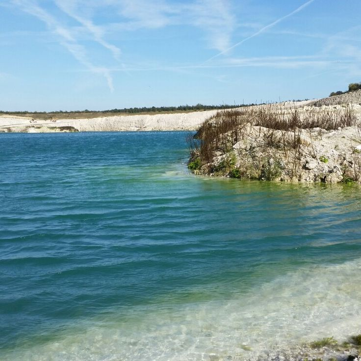 Faxe kalkbrud blue lake denmark