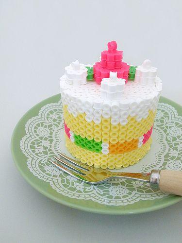 Cake perler beads