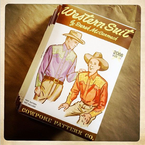 Western Suit, an illustrated story by Derek McCormack, published by pas de chance. Shirt pattern and instructions included in the envelope.