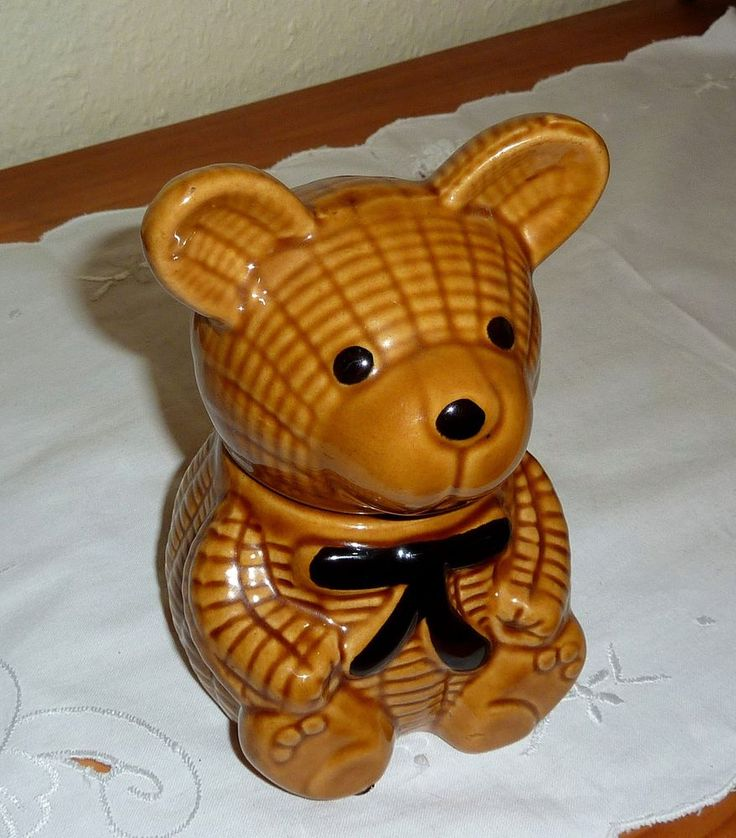 süßer Honig Bär Honigtopf Marmelade Konfitüre Keramik Deckeldose Deko 14,5cm H.