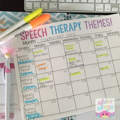 Simply Speech: Speech Therapy Themes… with a Freebie! Pinned by SOS Inc. Resources. Follow all our boards at pinterest.com/sostherapy/ for therapy resources.