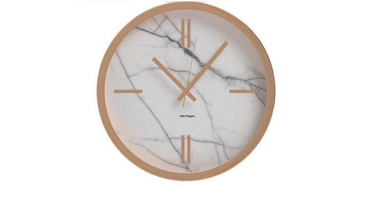 Zone Marble Look Wall Clock | Domayne