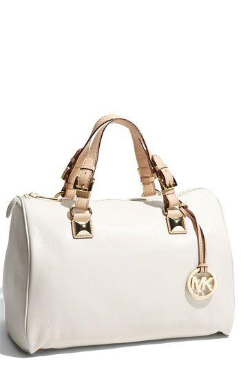 is it wrong to buy a bag b/c it has the same name as your son? ;) MICHAEL Michael Kors 'Grayson' Leather Satchel