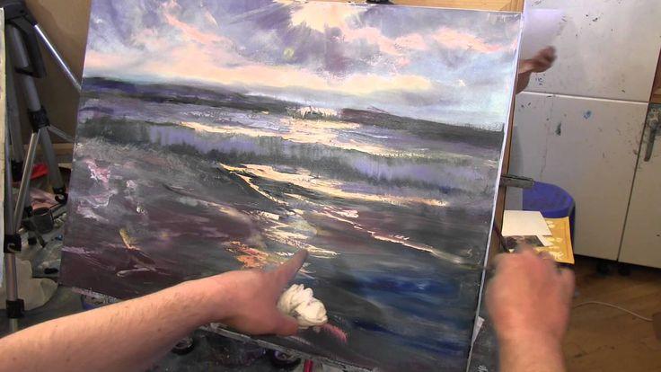 Морские волны, море, пляж, природа научиться рисовать маслом, уроки в Мо...