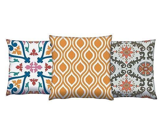 Set di 3 cuscini arredo in cotone Paprika - 43x43 cm