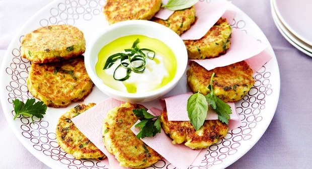 Galettes de légumes râpésVoir la recette des Galettes de légumes râpés >>