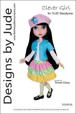 """Clever Girl Pattern for 15.25"""" Maudlynne Macabre & LittleMissMatched Tonner"""