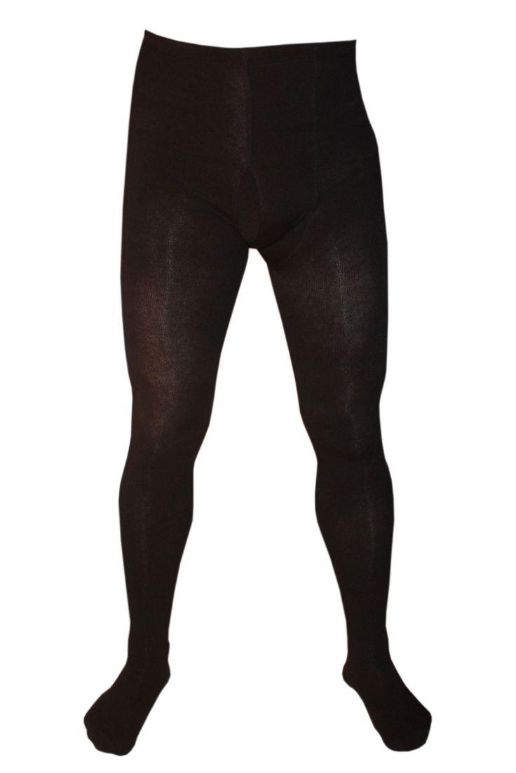 Weri Spezials Herrenstrumpfhose mit Eingrif in Schwarz, Gr. 58-60