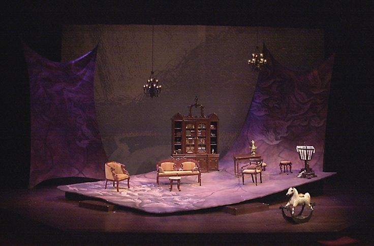 The Cherry Orchard. Utah Shakespeare Festival. Scenic design by George Maxwell. 2000