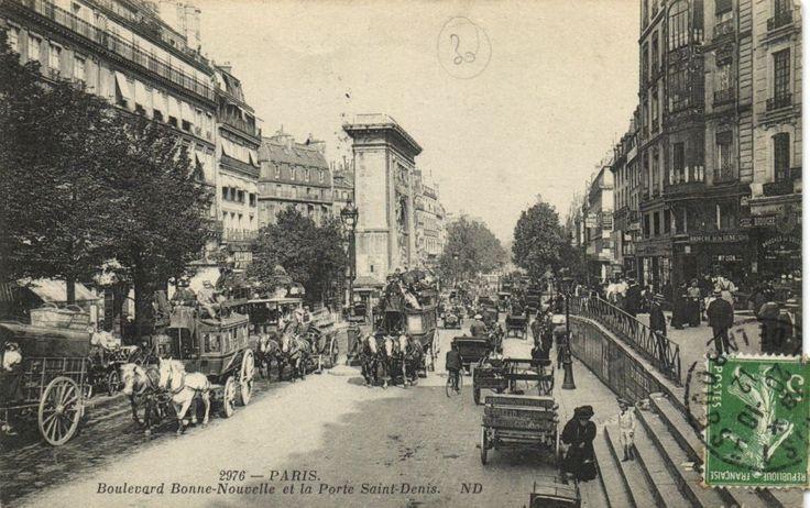 CPA Paris 10E DEP 75 Boulevard Bonne Nouvelle ET Porte Saint Denis 77014 | eBay
