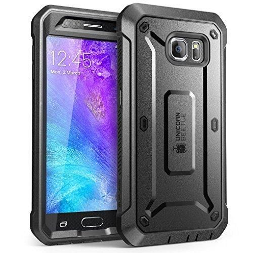 Galaxy S6 Case SUPCASE Full-body Rugged Holster Case with Built-in Screen Protector for Samsung Galaxy S6 (2015 Release) Unicorn Beetle PRO Series - Retail Package (Black/Black)