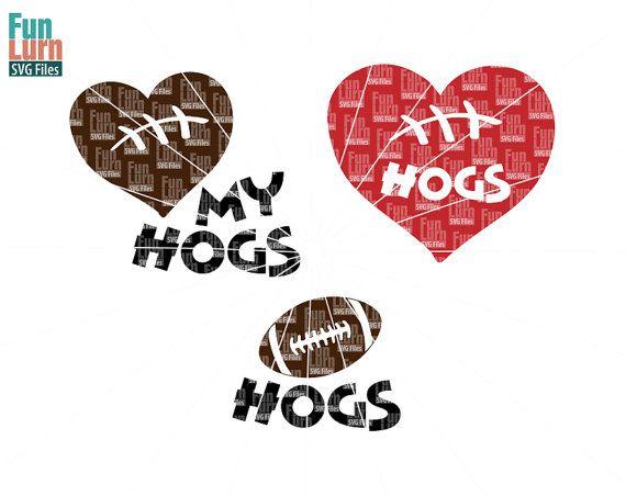 Football SVG Football season  Hogs  Football Love my by FunLurnSVG