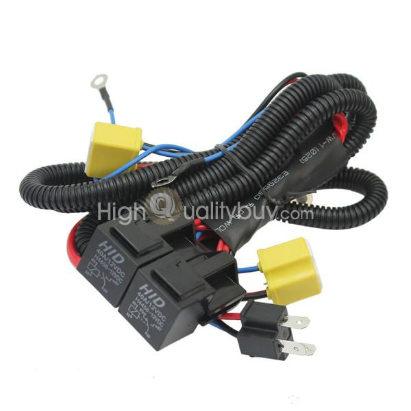 Auto H4 Halogen Headlights 35W Booster Harness Terminal 12V Relay Fuse Base - $9.99