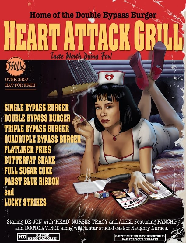 Heart Attack Grill  #HeartAttackGrill  #HeartAttack  #Grill  #PulpFiction  #Kamisco