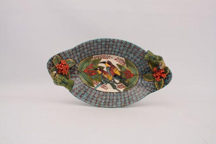 Ardmore Bird Oval Tray