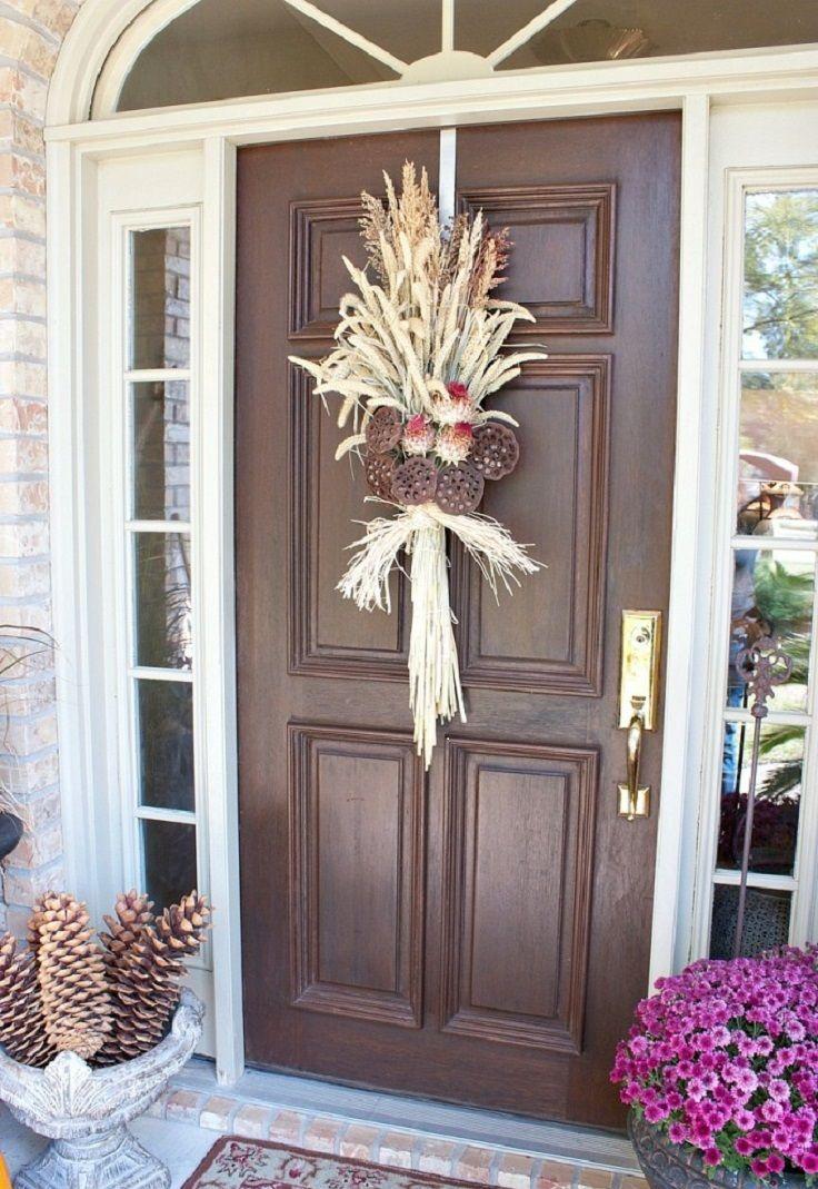 Top 10 Amazing DIY Fall Door Decorations via Top Inspired