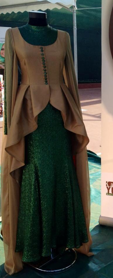 brown and green ! #hijab #fashion