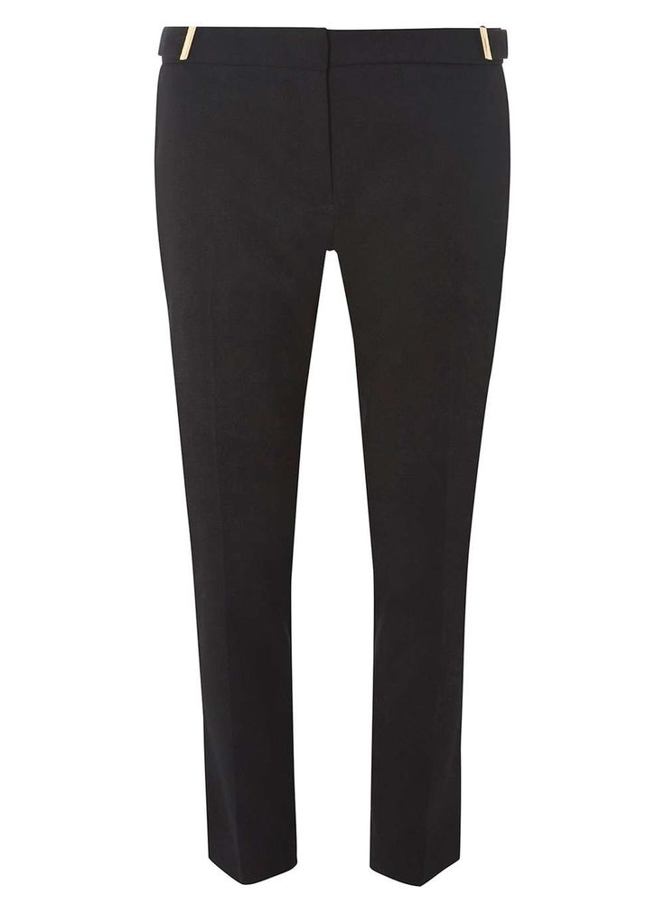 Dorothy Perkins Womens **Tall Gold Tab Twill Trousers- Black Tall gold tab twill trousers. Leg length 92cm. 100% Polyester. Machine washable. http://www.MightGet.com/january-2017-13/dorothy-perkins-womens-tall-gold-tab-twill-trousers-black.asp
