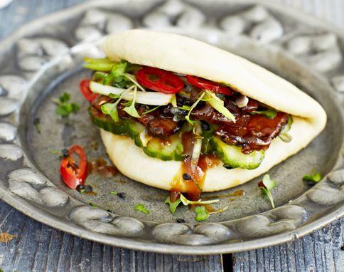Momofuku style buns Recipe: Jamie Oliver Styling: Georgina Hayden Photography: David Loftus