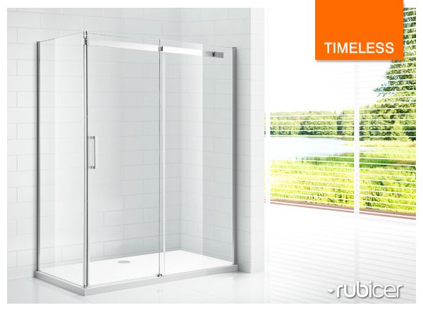 An ecologic solution! Rubicer's shower screen with anti-calc treatment.  #timeless #diferentsolutions #showerscreen #resguardo #anticalcario #higiene #limpeza #eco #interiordesign #bath #water #render #glass #modern #simple #aesthetics #function #design #user #rubicer