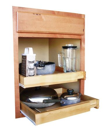ja marketing bamboo 20 39 39 expandable pull out shelf. Black Bedroom Furniture Sets. Home Design Ideas