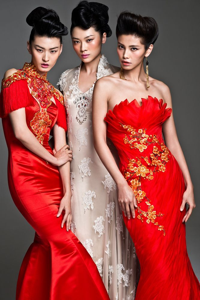 Chinese style Asian influenced haute couture